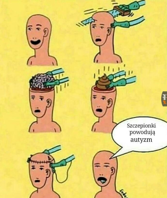 Kał zamiast mózgu