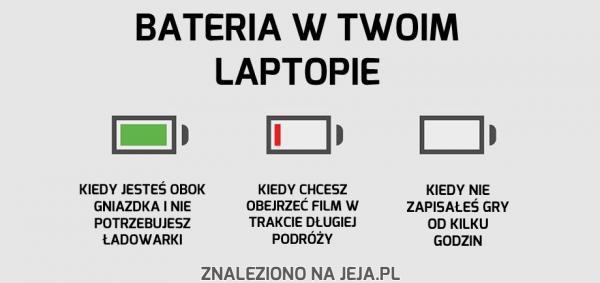 Bateria w Twoim laptopie