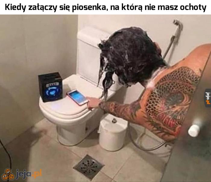 Ja tam lubię słuchać muzyki do kąpieli