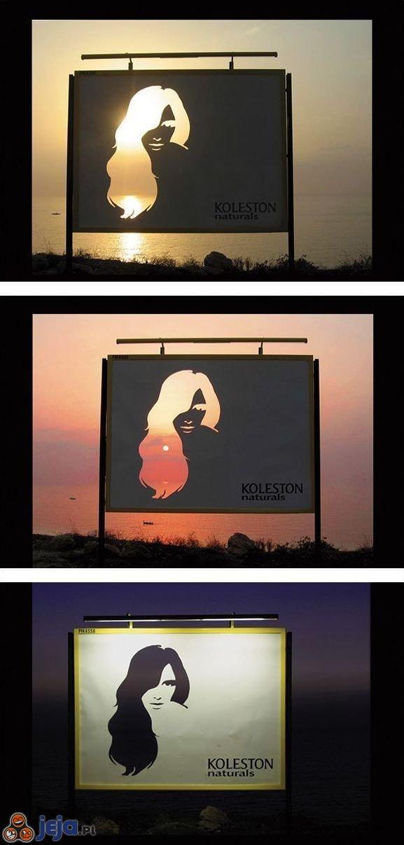 Reklama farby do włosów