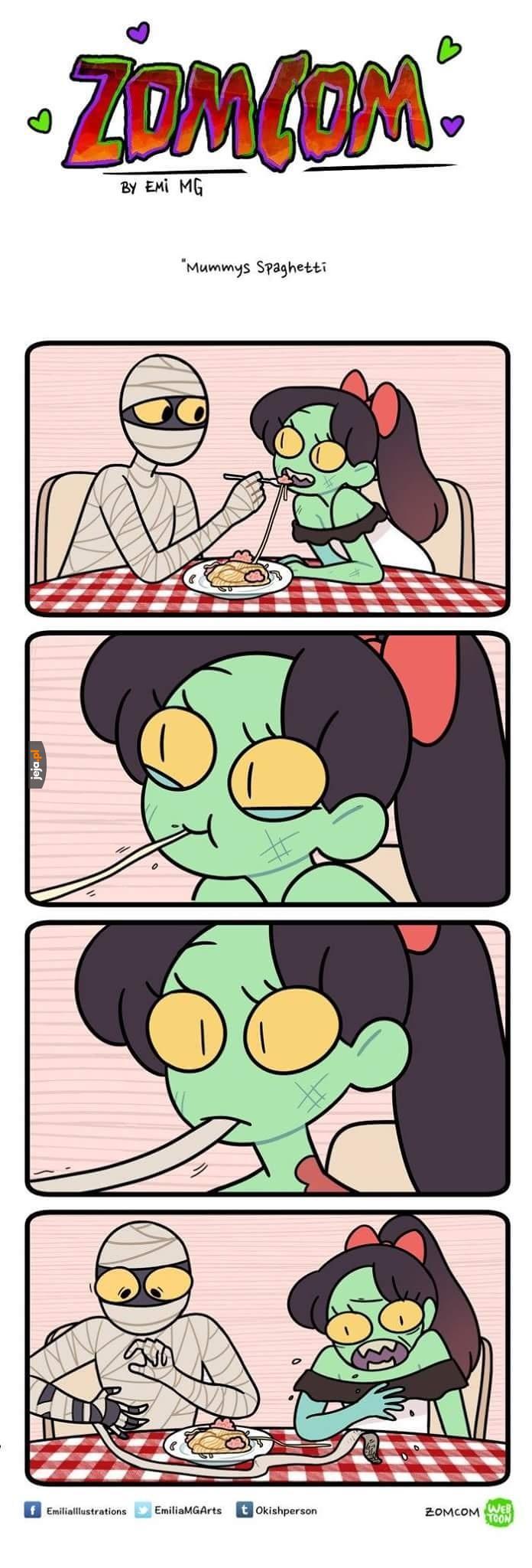 Mummys spaghetti, never forghetti