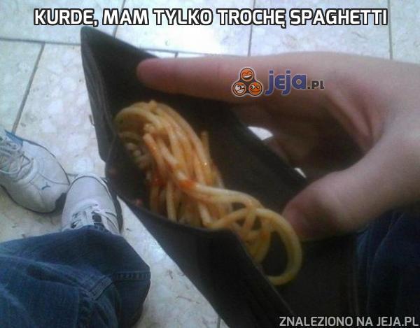 Kurde, mam tylko trochę spaghetti