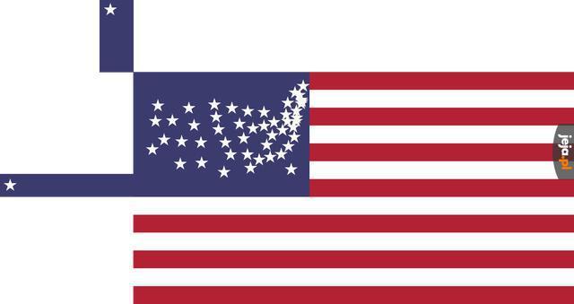 Flaga USA, ale dokładniejsza