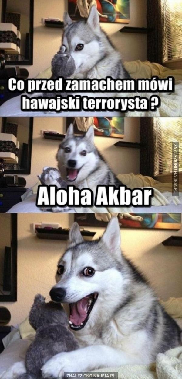 Co przed zamachem mówi hawajski terrorysta?