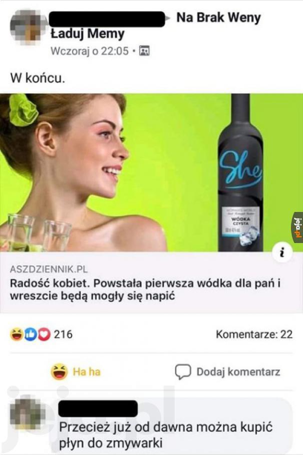 Wódka czysta dla pań
