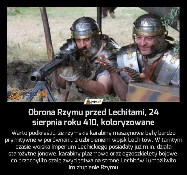 Obrona Rzymu przed Lechitami, 24 sierpnia roku 410, koloryzowane
