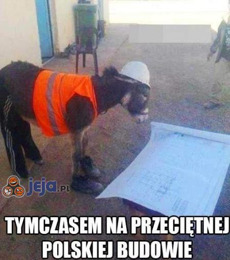 Tymczasem na przeciętnej polskiej budowie