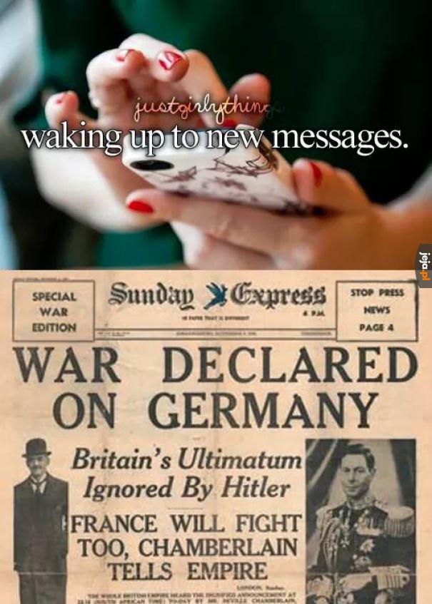 Budzenie się dla nowych wiadomości
