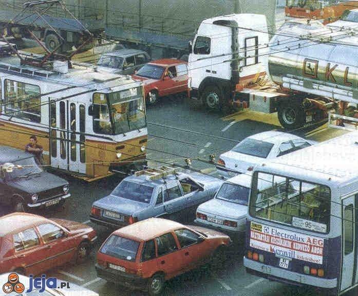 Blokada na drodze