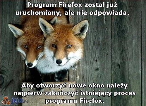 Program Firefox został już uruchomiony