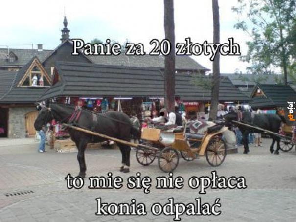 Minimum 50 zł, nie chce być inaczej!