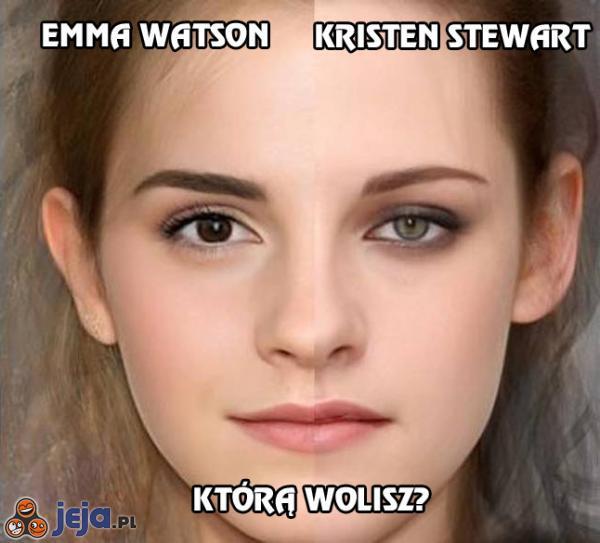 Emma Watson i Kristen Stewart - którą wolisz
