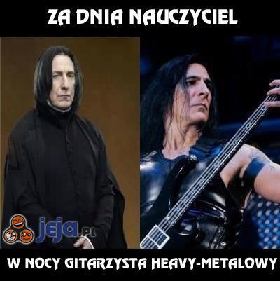 Za dnia nauczyciel, w nocy gitarzysta heavy-metalowy