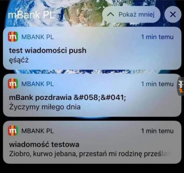 Testy w mBanku