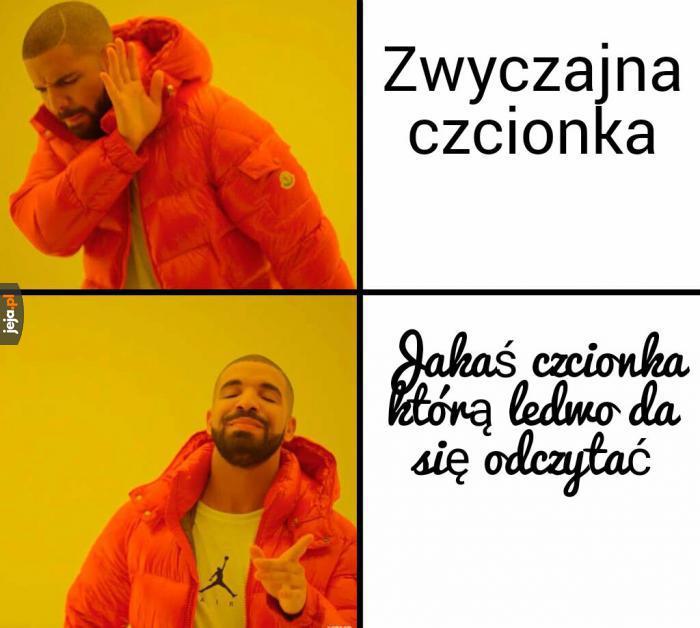 Oprócz polskich znaków