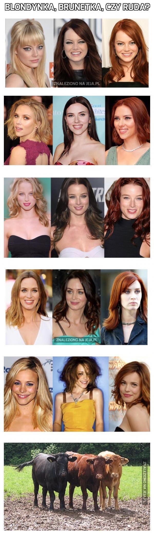 Blondynka, brunetka, czy ruda?