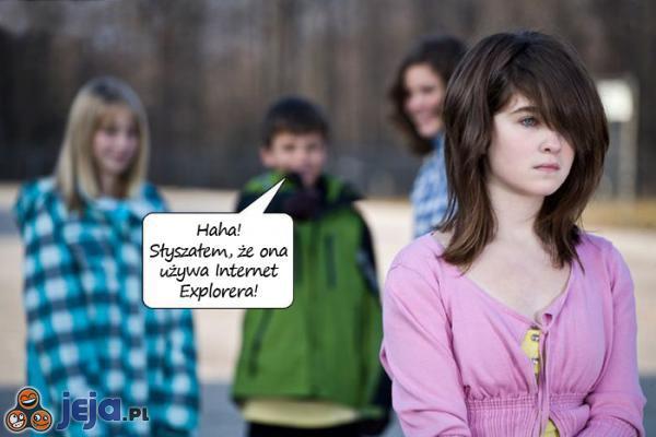 Użytkowniczka Internet Explorera