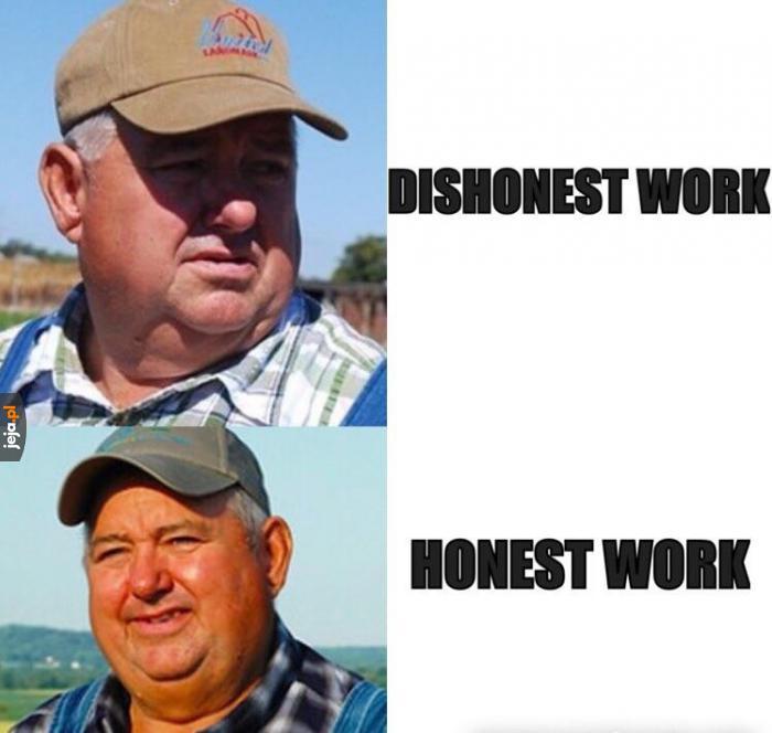 Tylko uczciwa praca