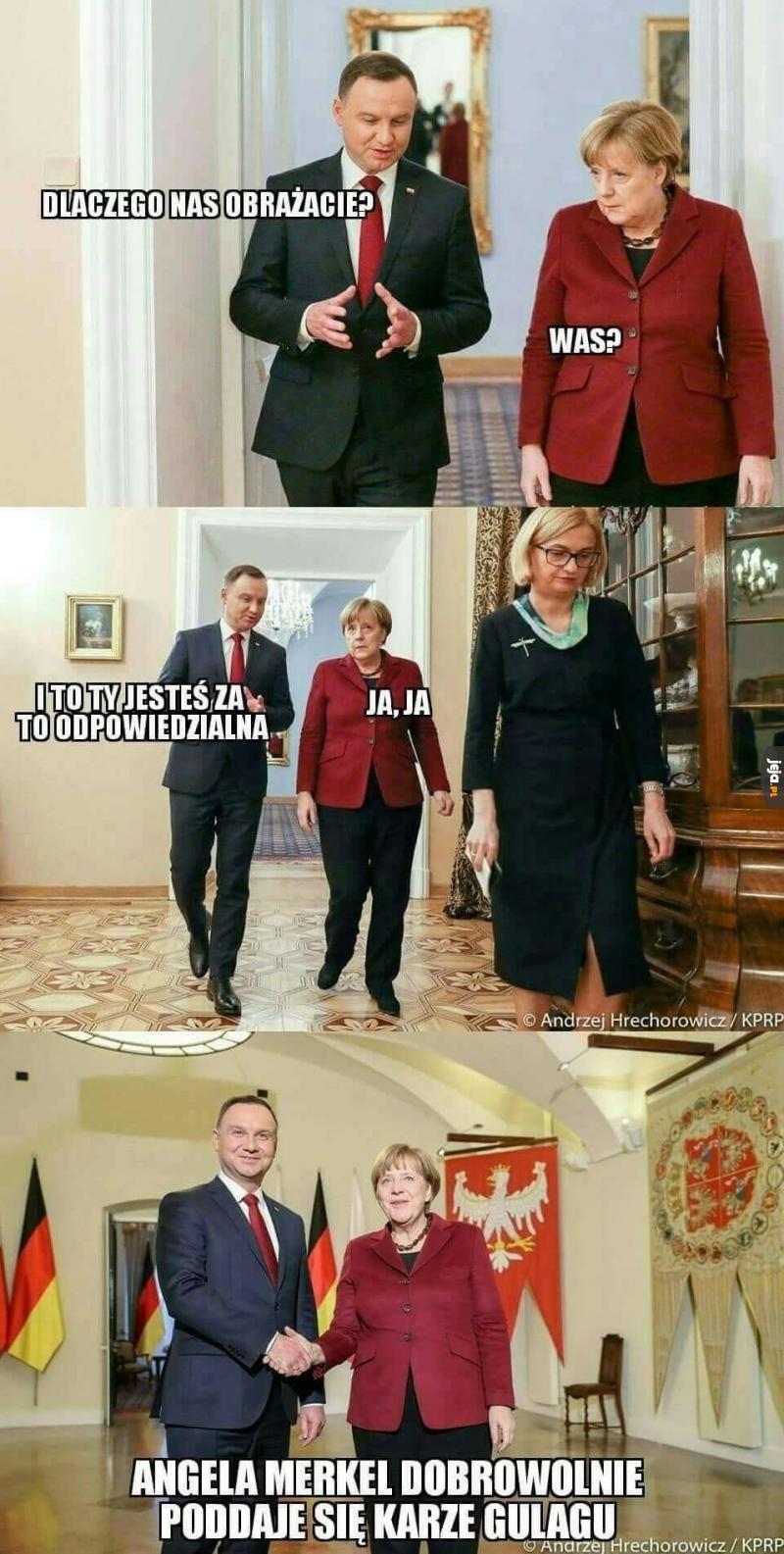 Kara dla Merkel