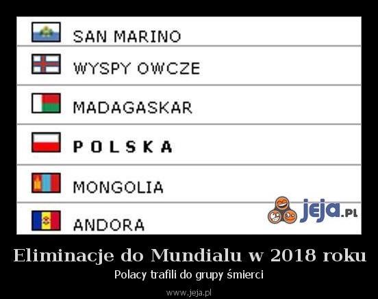 Eliminacje do Mundialu w 2018 roku