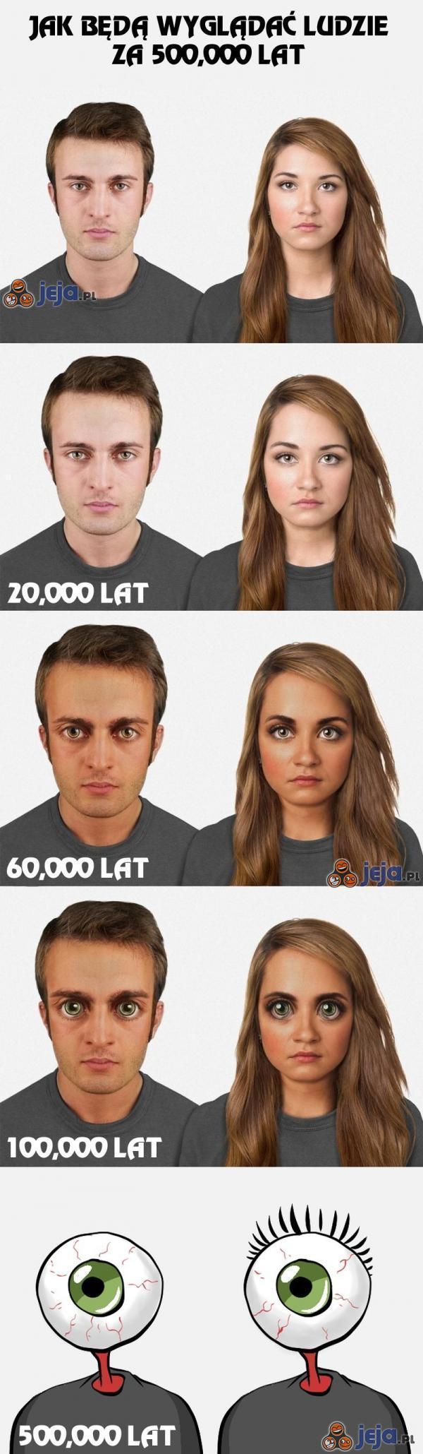 Jak będziemy wyglądać za pół miliona lat