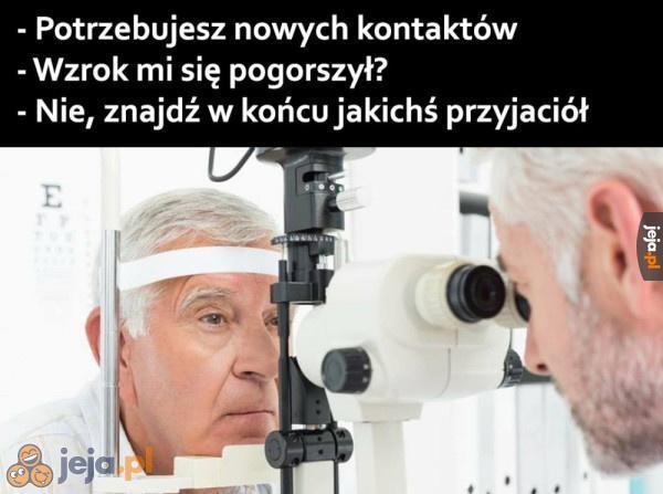 Przegryw u okulisty