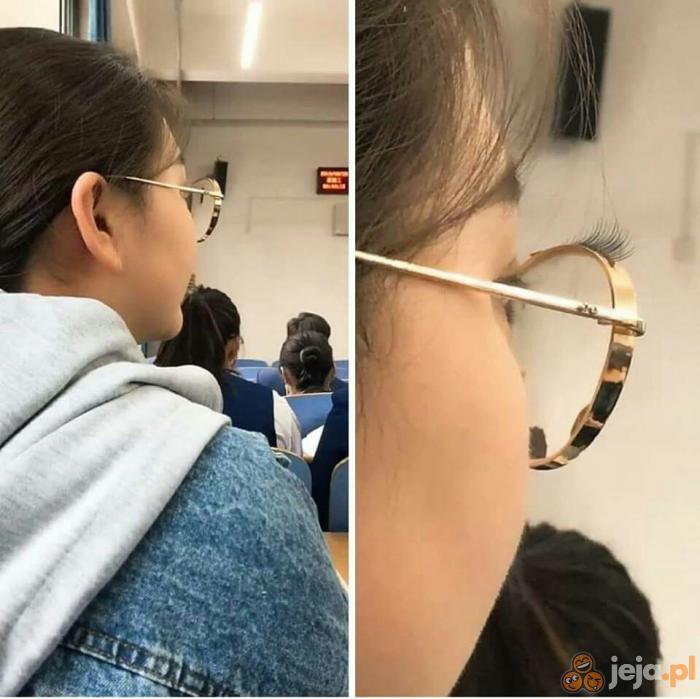 Okulary z rzęsami