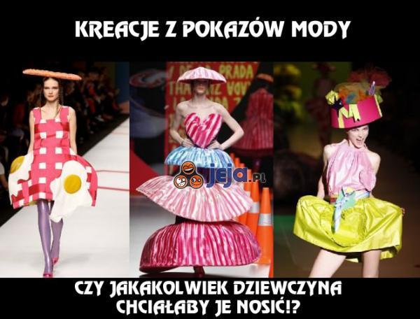 Kreacje z pokazów mody