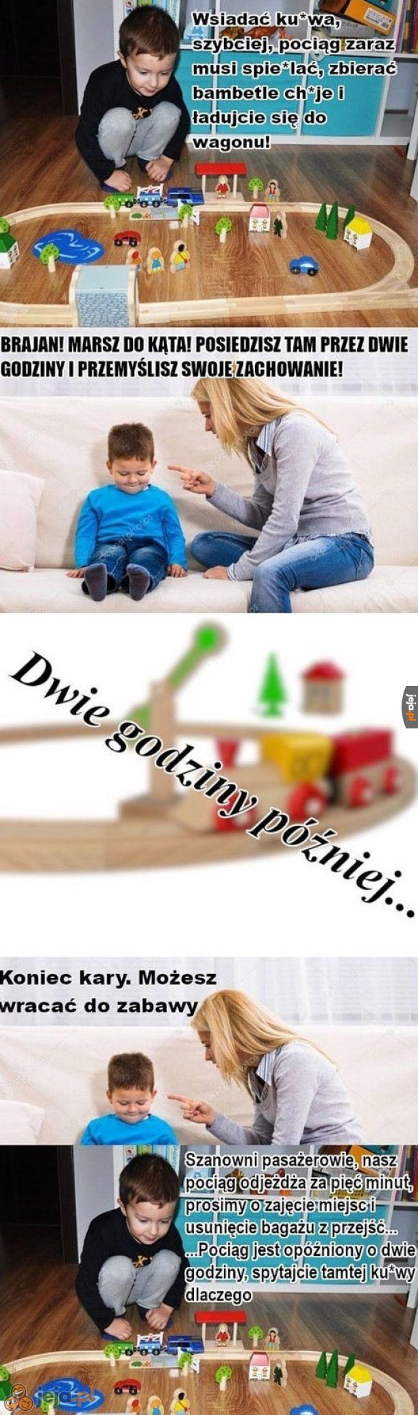 Typowa zabawa kolejką