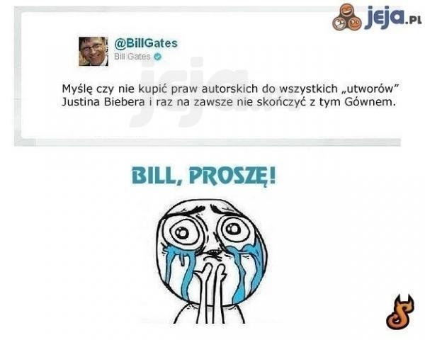 Bill Gates kupuje piosenki Justina Biebera