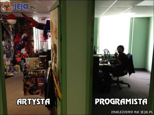 Artysta vs Programista