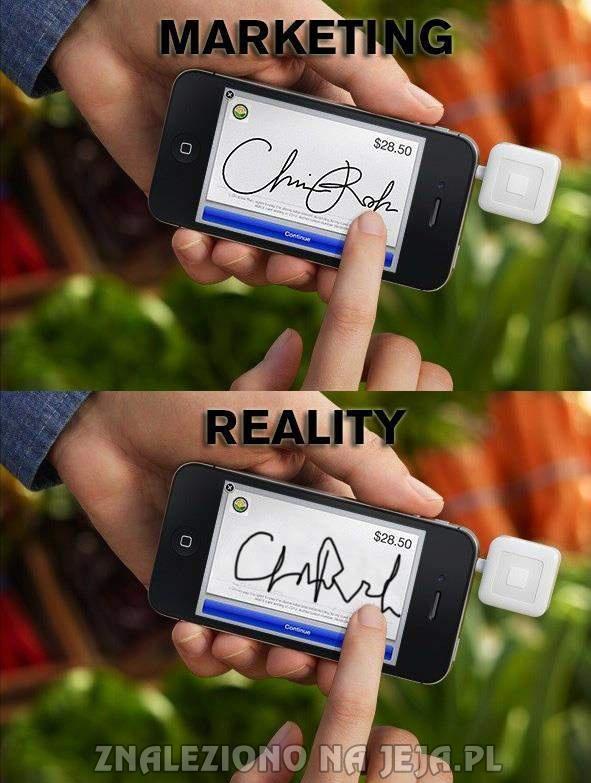 Reklama vs rzeczywistość... znowu
