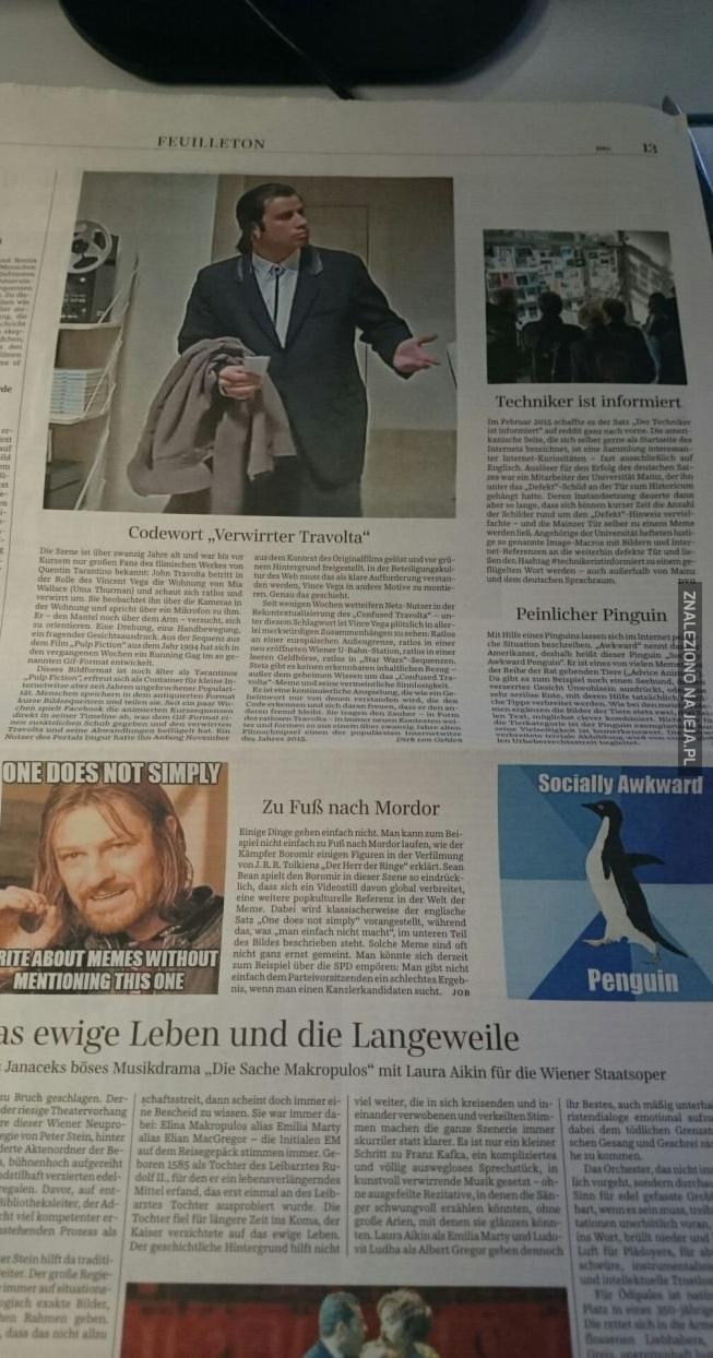 Tymczasem w gazecie...
