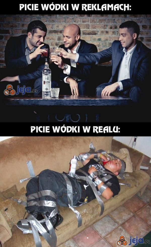 Różnice w piciu wódki