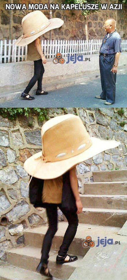 Nowa moda na kapelusze w Azji