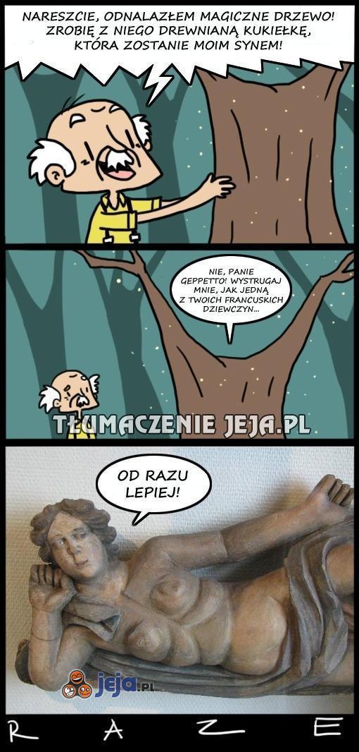 Geppetto i ciężki dylemat