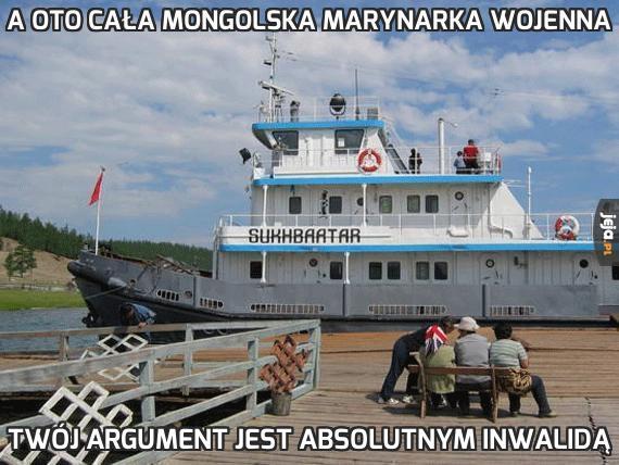 A oto cała mongolska marynarka wojenna