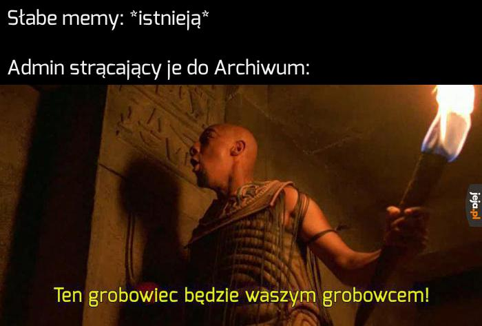 Los memów wrzuconych do Archiwum jest przypieczętowany