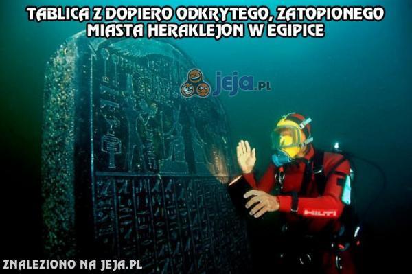 Odkrycie z podwodnego miasta