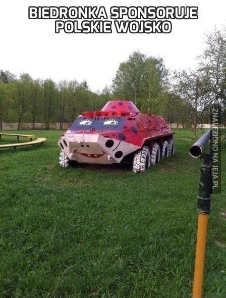 Biedronka sponsoruje polskie wojsko
