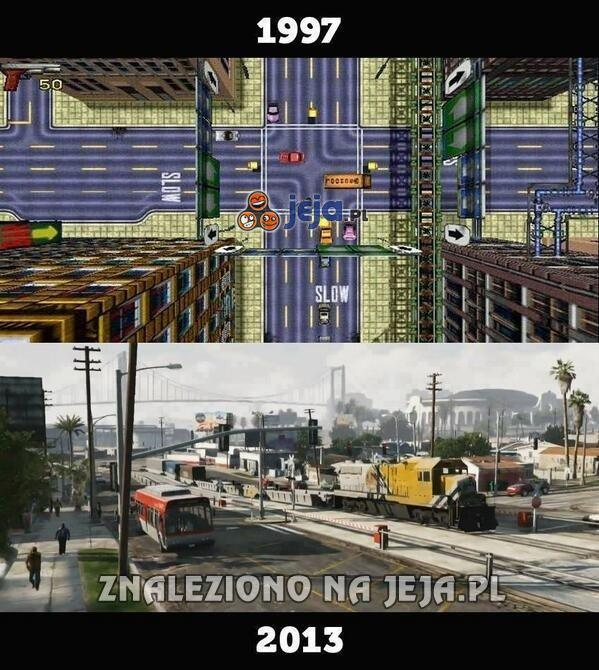 Grand Theft Auto - 16 lat różnicy