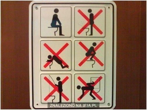 Jak nie korzystać z toalety