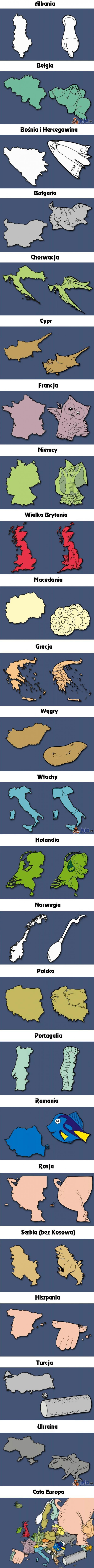 Co przypominają Ci kraje europejskie?