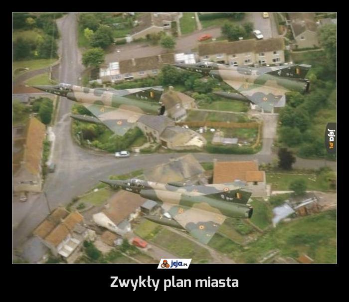 Zwykły plan miasta