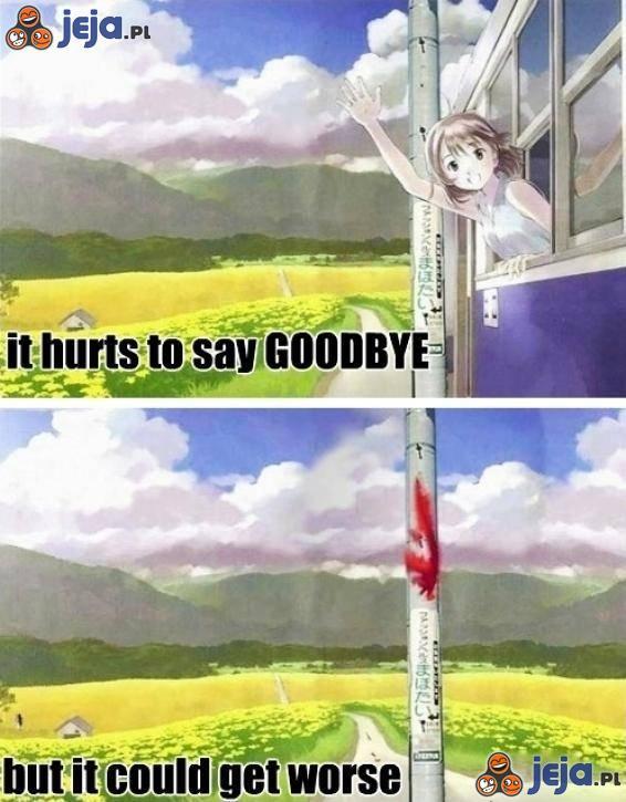 Żegnaj się na przystanku