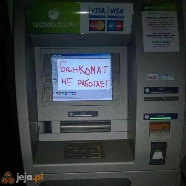 Bankomat nieczynny
