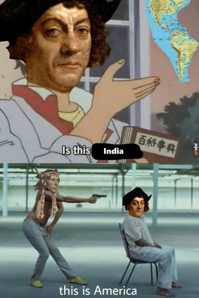 Co jak co, ale nawigować to Kolumb nie potrafił