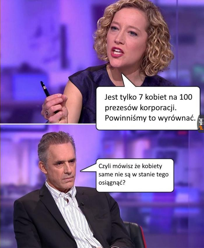 Peterson vs feministka