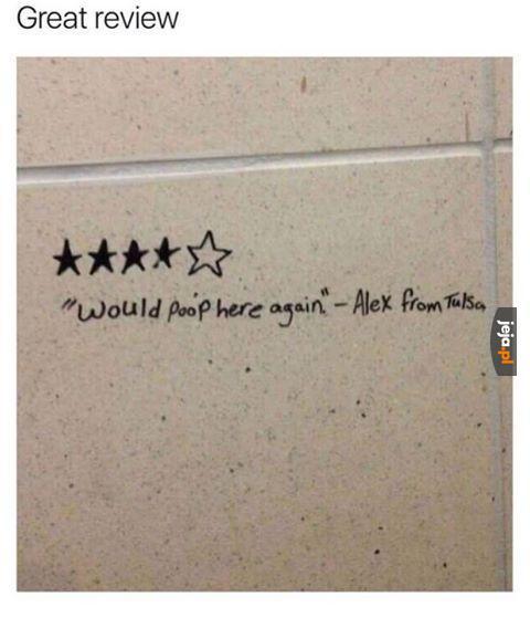 Recenzja toalety publicznej