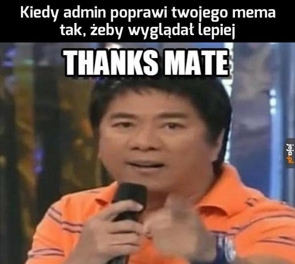 Dzięki, kimkolwiek jesteś!